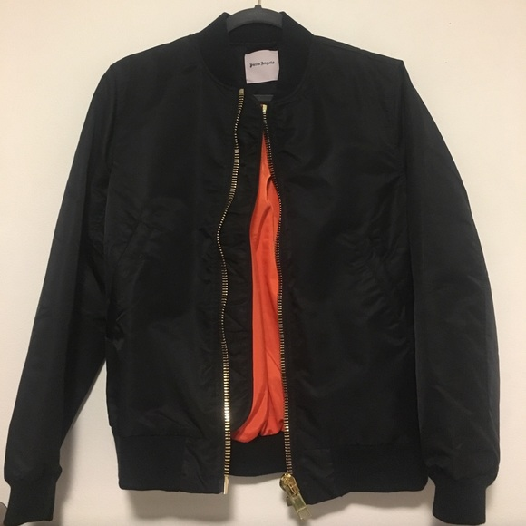 Palm Angels Other - Palm Angels Maxi Zip Bomber Jacket